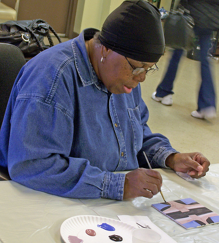 Langston Hughes Senior Center art workshop